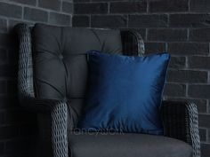 Velvet Pillows, Throw Pillows, Initial Cushions, Plain Cushions, Velvet Material, House Numbers, Pillow Inserts, Royal Blue, Cover