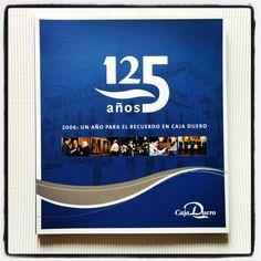 libro conmemorativo 125 años  caja duero