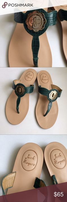 Jack Rogers Larissa sandals Brand new but without a box, dark green Jack Rogers Shoes Sandals
