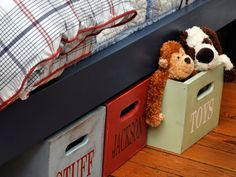 Great under the bed storage idea