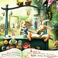 Love Stories From The Red Flower Shop (with everything, including the Sweet As A Pea Alpha)  Lori Davison's beautiful digital creations make the most beautiful pages for your own digital books and how cute are these little bunnies?