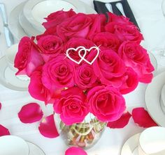 Crystal Double Hearts Bouquet Jewelry will add sparkle to your wedding bouquets and centerpieces!