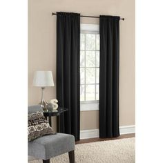 Mainstays Thermal Solid Woven Window Panel Pair, Multiple Colors - Walmart.com