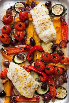 Diet Recipes One-Tray Baked Cod Provençal Diet Plan: Our Favourite Low Calorie Recipes No Calorie Foods, Low Calorie Recipes, Healthy Recipes, 5 2 Diet Recipes 500 Calories, 500 Calorie Meals, Detox Recipes, Easy Recipes, Baked Cod, Baked Fish