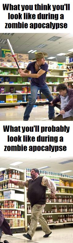 What will you look like after the Zombie Apocalypse? Lol!
