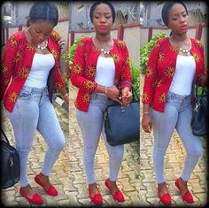 African print BlouseAnkara Zip Up jacket top African women African Inspired Fashion, Latest African Fashion Dresses, African Print Dresses, African Print Fashion, African Dress, African Prints, Ankara Blouse, Ankara Tops, Ankara Dress