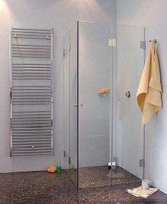 FK1W, Eck Falt-Dusche mit 2 Falt-Türen, Klarglas, Chrom, H=173cm