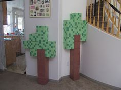 Great Minecraft Party Blog--- Decor, food, party games--- step by step using crafting table,