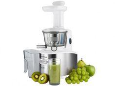 Espremedor de Frutas Cadence Slow Juicer Elétrico - Inox 200W Automático Branco com as melhores condições você encontra no Magazine…