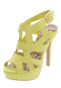 Me encanta! Miralo! Sandalia Plataforma Qupid Verde Limón de Qupid en Dafiti