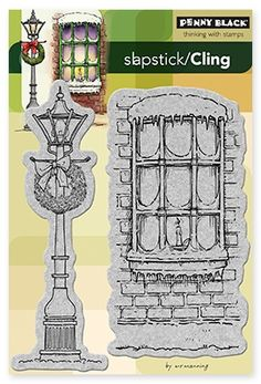 Winter Illumination - Slapstick Cling Rubber Stamps by Penny Black $8.39