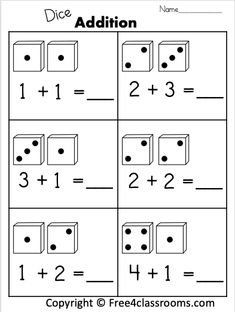 Free 1 Digit Additions Worksheets for Kindergaten kindergarten worksheets free math activities Kindergarten Addition Worksheets, Printable Math Worksheets, Reading Worksheets, Preschool Worksheets, Math Activities, Basic Math Worksheets, Subtraction Kindergarten, Improve Reading Skills, Math Addition