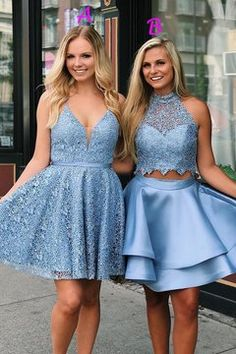 Blue Lace Homecoming Dress,Short Prom Dress, Shop plus-sized prom dresses for curvy figures and plus-size party dresses. Ball gowns for prom in plus sizes and short plus-sized prom dresses for Blue Lace Prom Dress, 2 Piece Homecoming Dresses, Junior Bridesmaid Dresses, Prom Dresses Blue, Sexy Dresses, Lace Dress, Elegant Dresses, Graduation Dresses, Dress Prom