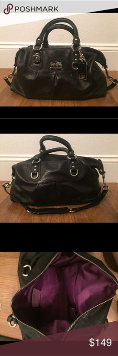 Authentic Coach bag! Great condition! Comes with original duster! Plum inside in great condition! Coach Bags Satchels