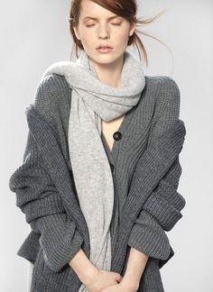 Stefanel 2013 2014 catalogo collezione FOTO  #stefanel #abbigliamento #clothes #dress #vestiti #moda #moda2014 #fashion #cardigan #grey