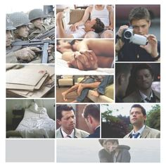 """""""Twist and Shout"""" by laceknee on Polyvore :: Dean and Castiel from Supernatural, """"Twist and Shout"""" Destiel Fanfiction tribute"""
