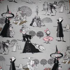 Fabric for the cute Halloween tote bag.
