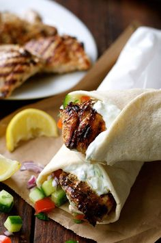 The marinade for this Greek Chicken Gyros recipe is so good, I use it even when I