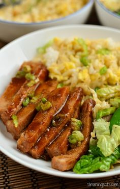 Slimming Eats Chinese Style Pork - dairy free, Slimming World (SP) and Weight Watchers friendly