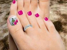 Ornate toenails for inhalation Toenail Art Designs, Pedicure Designs, Pedicure Nail Art, Toe Nail Designs, Toe Nail Art, Pretty Pedicures, Pretty Toe Nails, Cute Toe Nails, Pretty Toes