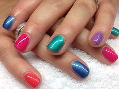Zomerse Shellac nagels CND gemaakt in De Nagelsalon Enkhuizen