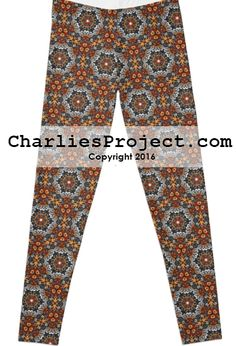Maple paisley, medallions. Just like Lularoe with the yoga waist band, buttery soft fabric, and limited prints but no searching! They are all here! And cheaper with pre-order! Charlie's Project adult and kid leggings.