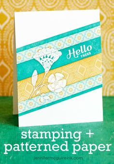 Tips for combining stamping and patterned papers