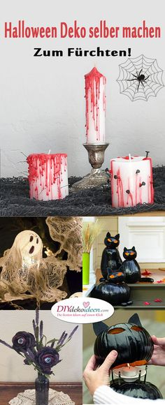 To be afraid - make horribly scary halloween decoration yourself - Mimi Geburtstag - Hochzeitsdeko Deko Halloween Party, Spooky Halloween Decorations, Halloween 2018, Halloween Crafts, Happy Halloween, Halloween Accessories, Party Gifts, Alice In Wonderland, Diys