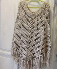 Boho crochet poncho (70€) - Crocheting Journal