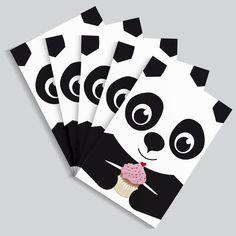 Tiere - Postkartenset Panda / 5 Karten - ein Designerstück von Knuschels bei DaWanda