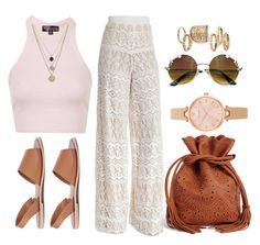 """""""#FestivalFun"""" by pandadonuttwin ❤ liked on Polyvore featuring Alice + Olivia, Topshop, LowLuv, Boohoo and Kate Spade"""