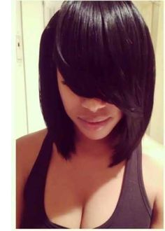 None Lace Remy Chinese Hair Natural Black Short Straight Human Hair Bob Wig Perruque Cheveux Humain Human Hair Wigs for African Black Women Online with $54.83/Piece on Qdtian's Store | DHgate.com