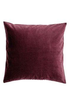 Velvet cushion cover - Burgundy - Home All | H&M IE 1