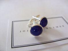 Lapis Lazuli Gemstone Mens Swivel Silver by jojodebulmer on Etsy