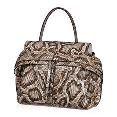 Salvatore Ferragamo New Python Kelly Top Handle Satchel Convertible Shoulder Bag V7kig
