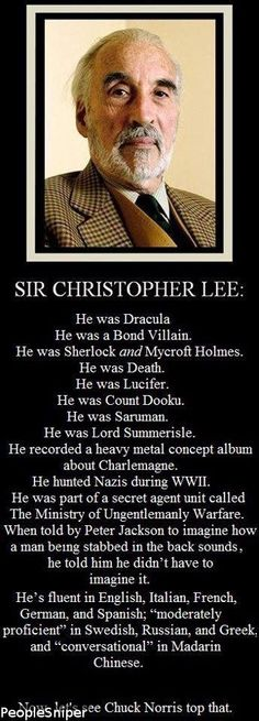 R.I.P  Sir Christopher Lee 1922-2015