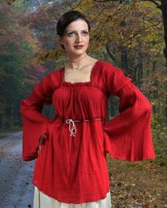 Medieval blouse idea if guests want to participate without going overboard.