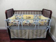 Baby Bedding Crib Set Liam New! : Just Baby Designs, Custom Baby Bedding Custom Crib Bedding Custom Nursery Bedding