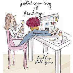 Just dreaming of Friday... #heatherstillufsen #heatherstillufsenart
