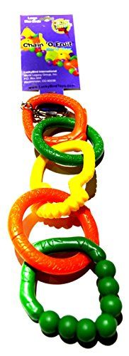 Bonka Bird Toys 0022 Fruit Link Chain Medium Bird Toy cage toys cages plastic african gry amazon -- Check this awesome product by going to the link at the image.Note:It is affiliate link to Amazon.