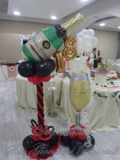 #dolcemania #palloncini #balloons #puglia #italia #foggia #gargano #champagna #flutes #bollicine #perlage #spumante 24th Birthday, Birthday Table, Balloon Columns, Balloon Arch, Puglia Italia, Balloon Display, Gold Party Decorations, Champagne Party, Number Balloons