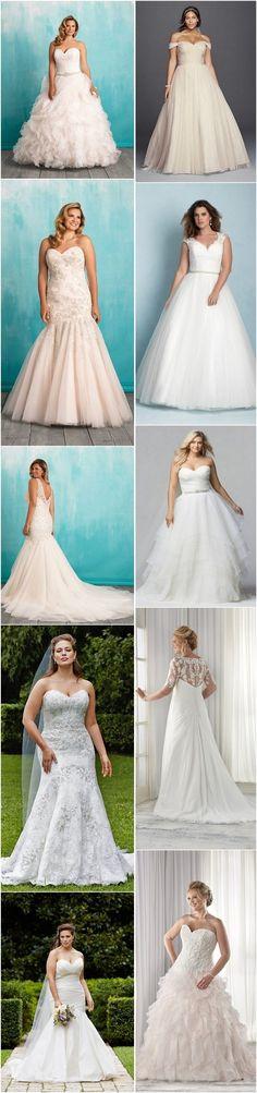 Gorgeous Plus-Size Wedding Dresses / http://www.himisspuff.com/plus-size-wedding-dresses/