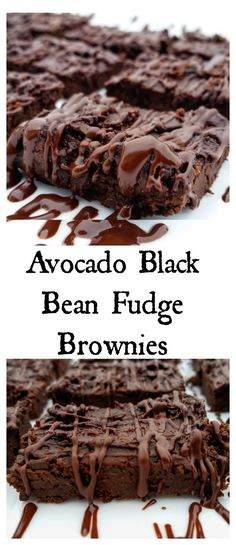 Avocado Black Bean Fudge Brownies - Tastes like chocolate, vegan, and GUILT FREE
