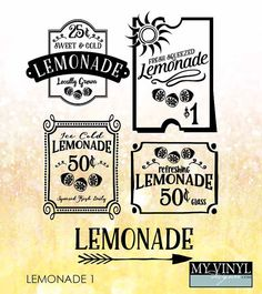 Lemonade SVG Files Lemonade Stand Cuttable SVG by myvinyldesigner