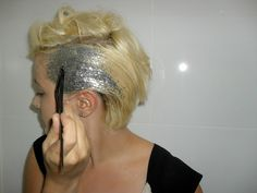 Glittered hair!  How cool is this?