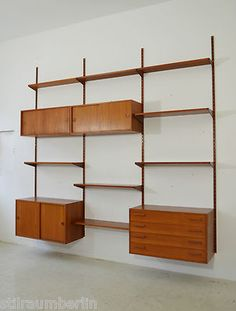 wandregalsystem mit 2 containern mid century interior pinterest. Black Bedroom Furniture Sets. Home Design Ideas