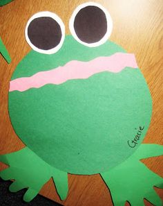 First Grade Wow: amphibians always a fan of projects that involve handprints