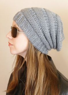 db92745070c Items similar to Hand Knit Women s Hat Slouchy Hat