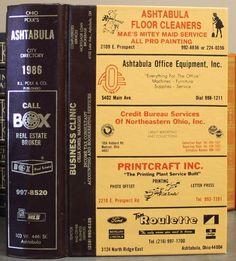 1986 Polk's Ashtabula City Directory OH Ohio Genealogy Directory of Local Names