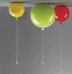 Minimalist Style Colorful Balloon Ceiling Light Children Bedroom Ceiling Lamp Acrylic Creative Dining Room Bedside Ballon Lamp